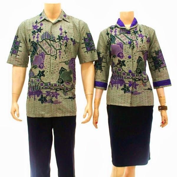 SR721 Grosir Baju Batik pasangan/Couple 2014