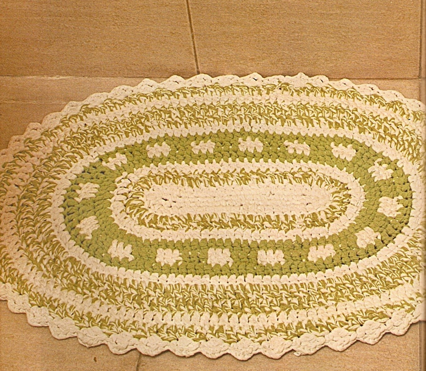 Вязание крючком ковров для ванной