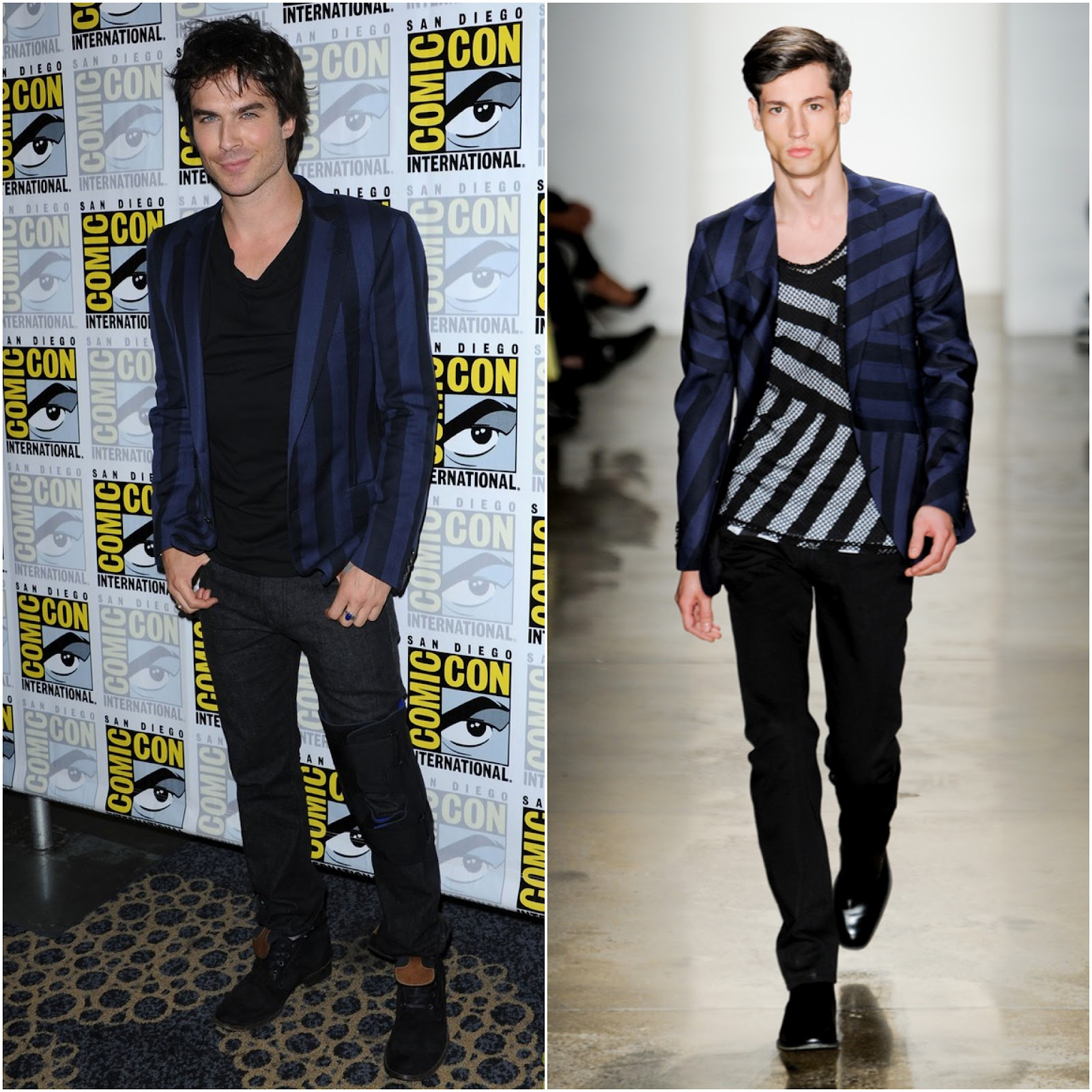 00O00 London Menswear Blog Celebrity Style Ian Somerhalder Comic-Con 2012 Simon Spurr Spring Summer 2012