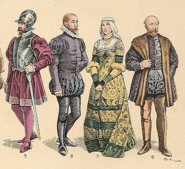 historia del traje en espana: