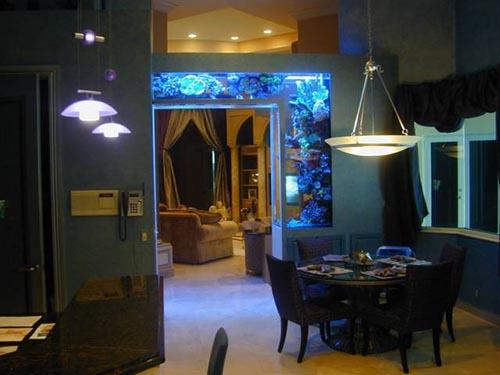 C mo colorar un acuario o pecera en una habitaci n decoracion de dormitorios - Pecera de pared ...