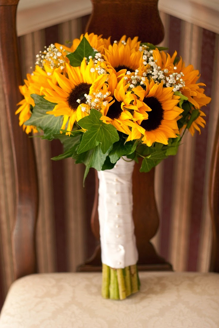Sunflower wedding bouquets stuff ideas