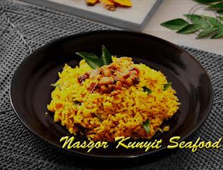 Resep Cara Membuat Nasi Goreng Kunyit Seafood