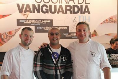 Youssef con dos de los grandes chefs de grupo NH