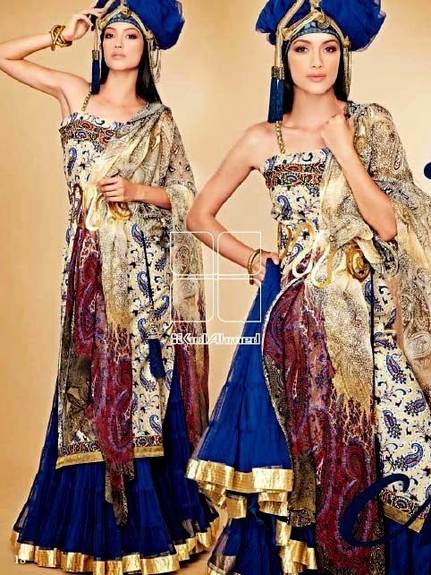 Royal Lawn Dresses from Gul-Ahmed Catalogue