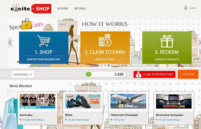 Belanja online di Excite Shop