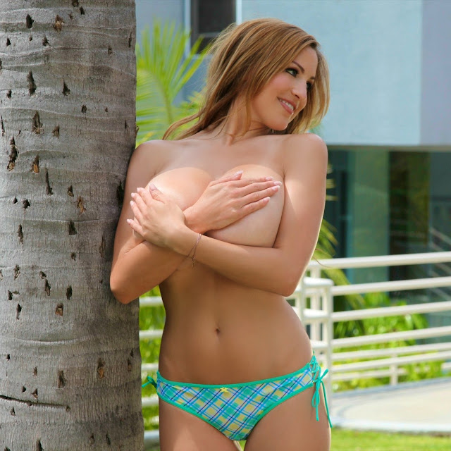 Jordan Carver Hand Bra Big Boobs