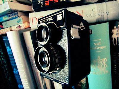 camera, vintage, quote, books, bookshelf