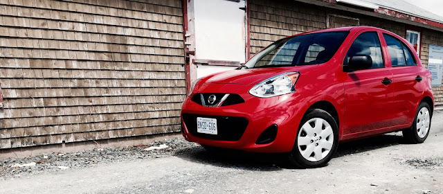 2015 Nissan Micra S red front
