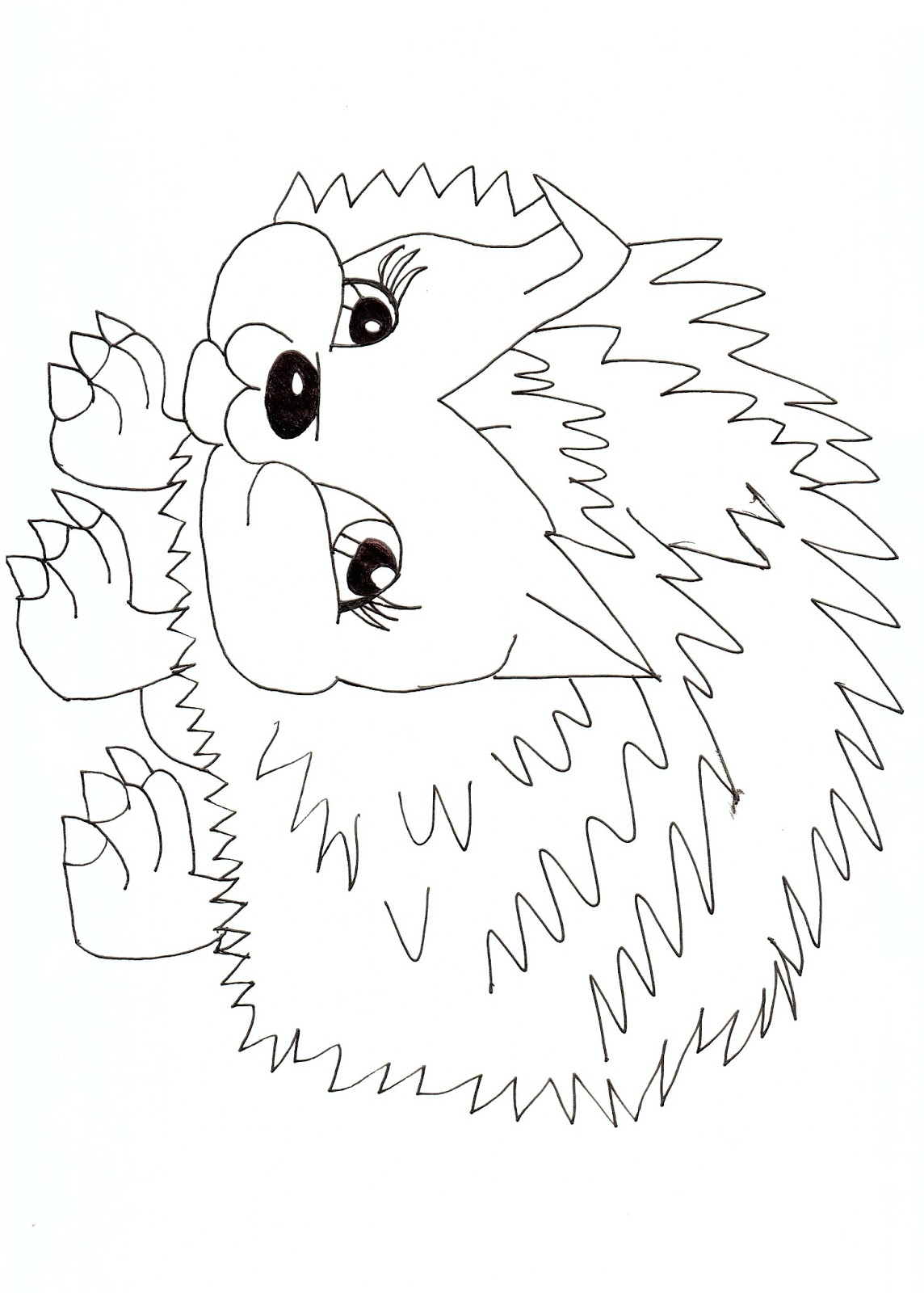 Free printable monster high coloring pages hedgehog free for Monster high pets coloring pages
