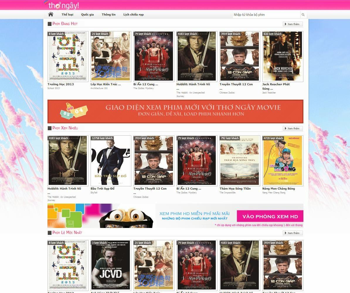 thiết kế website xem phim chuyên nghiệp