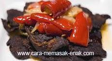 resep praktis (mudah) membuat (memasak) masakan khas minangkabau dendeng batokok spesial enak, gurih, lezat