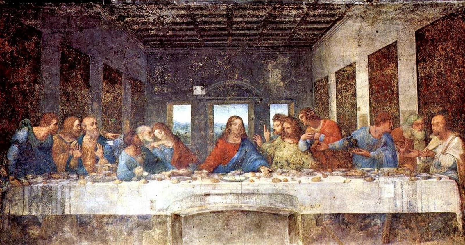 "La Cène ""The Last Supper"" 1498 LéonarddeVinci (1452-1519) ÉgliseS.MariadelleGraziedeMilan"