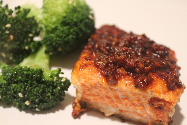 Salmon With Spicy Tomato Topping (adapted from Bon Appetit , January ...