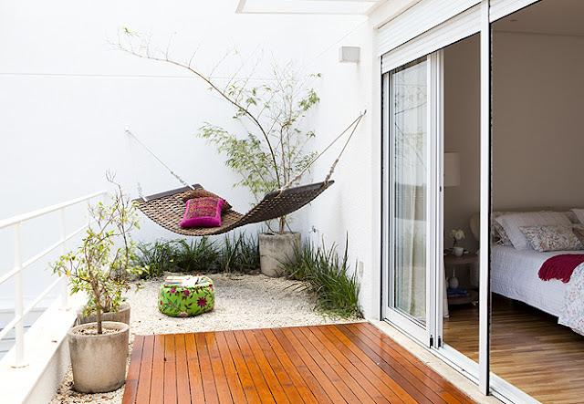 Faça da sua varanda ou terraço um lugar zen, veja uma amostra da