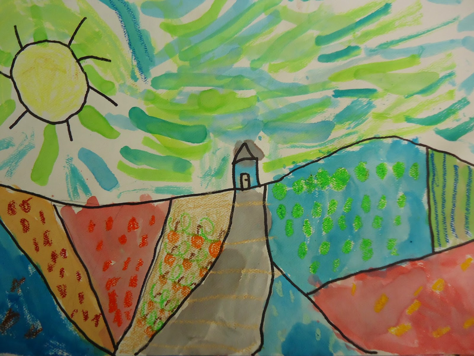 Mini Matisse: Hockney Landscapes