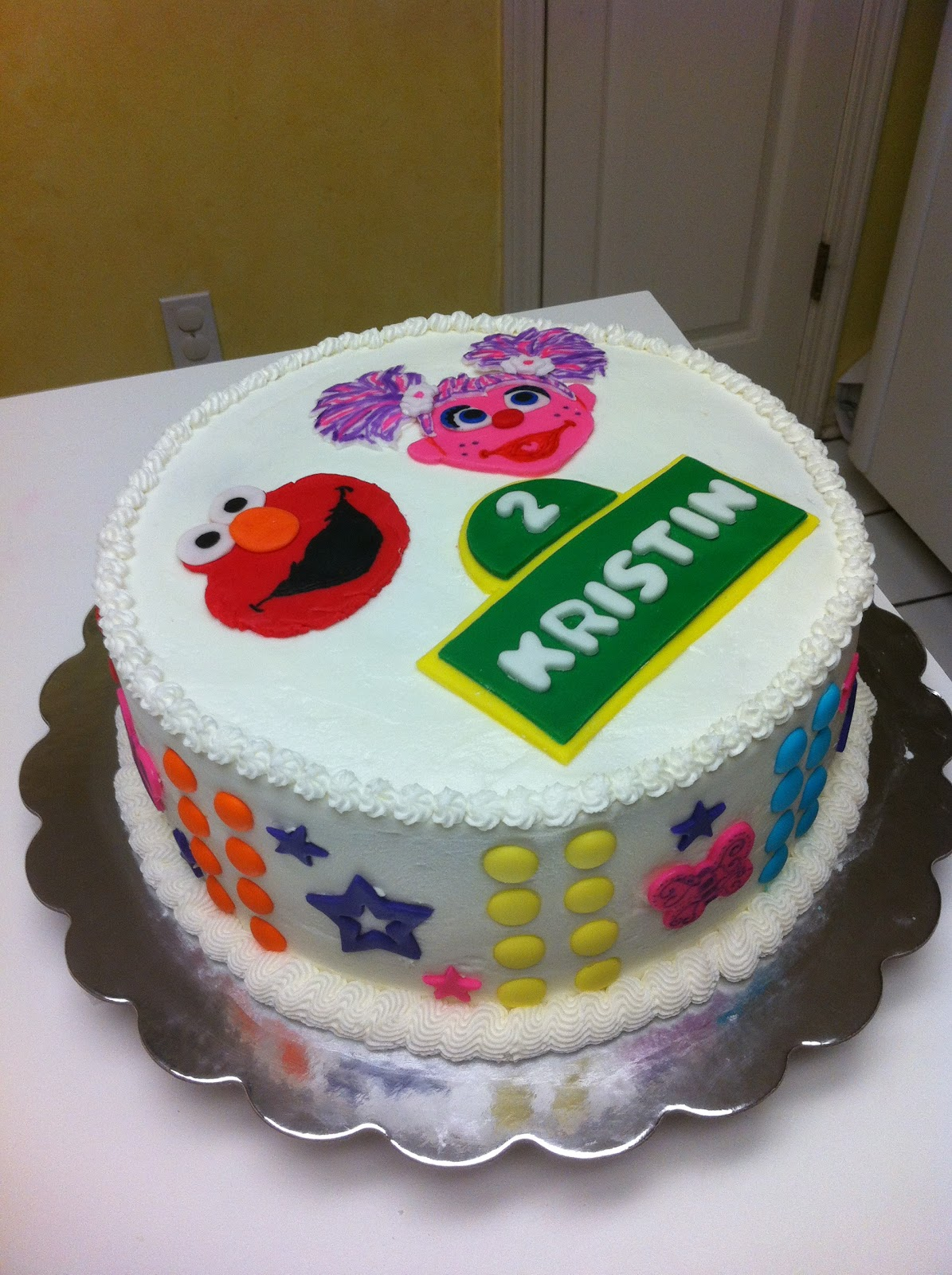 Gingerly Created Confections Abby Cadabby And Elmo Birthday Cake - Elmo and abby birthday cake