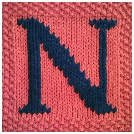 Knitted Dishcloth Pattern With Letters : #subversiones#: Extra: Tejer con lanas de varios colores a ...