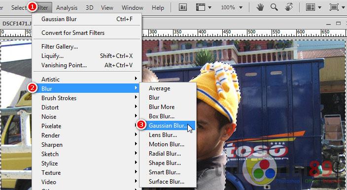 Cara membuat efek blur pada foto dengan photoshop