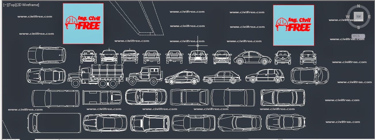 Descarga 30 bloques autocad 2d vehiculos formato dwg for Bloques dwg gratis