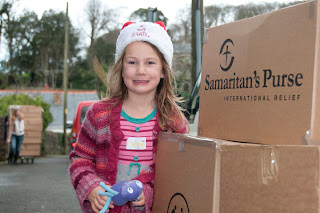 Cornwall charity shoe box appeal