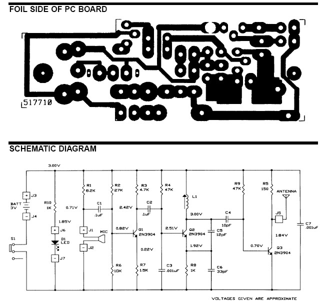 Wiring       Schematic       Diagram     Wireless    Microphone    circuit    diagram