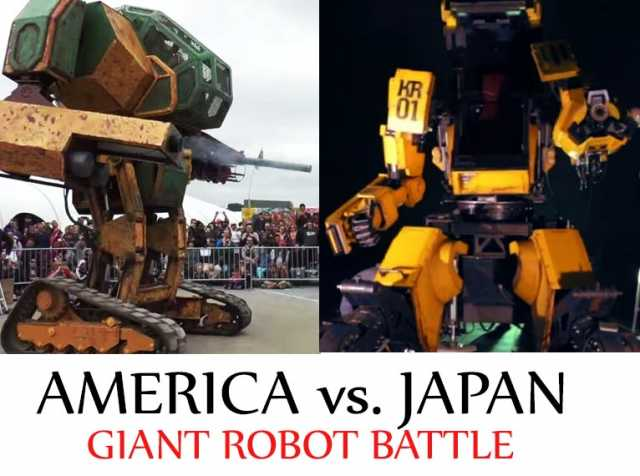 Japan Accepts Giant Robot Fight Challenge From America