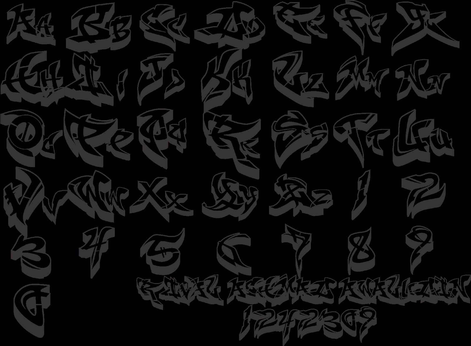 Huruf Abjad Grafity Keren | Search Results | Calendar 2015