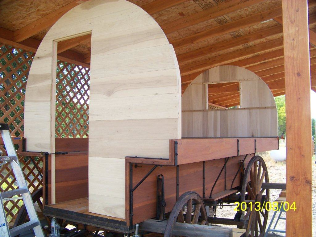 Sheep Wagon idahowagons1jpg Sheep Wagon Progress Front Rear Walls In Place Jul 24 2013 Below