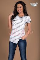 Bluza alba dungi negre (MBG)