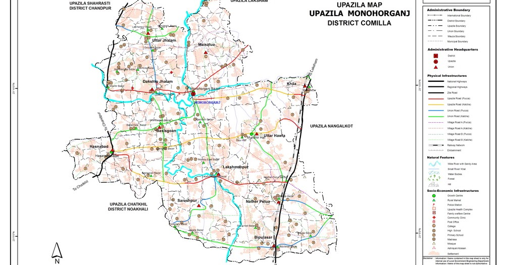 Monohorgonj Upazila Map Map of Monohorgonj Thana Bangladesh Maps
