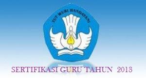 Daftar Nasional Calon Peserta Sertifikasi Guru 2013