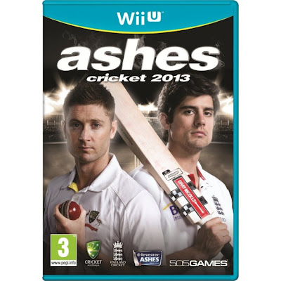 Box art for Wii U version of video game Ashes Cricket 2013