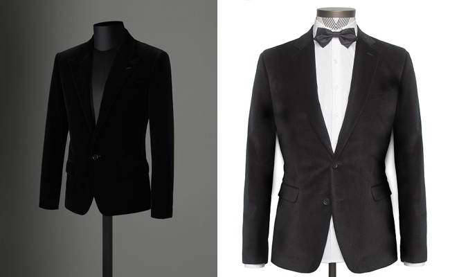 Velvet suits for men fall-winter 2012