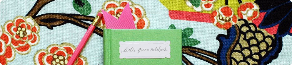 Little Green Notebook blog