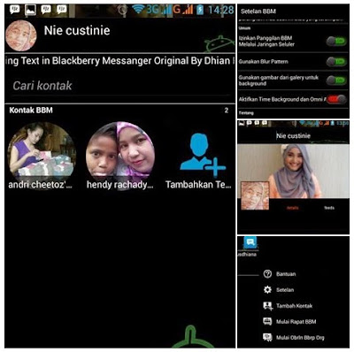 Download BBM Mod Black Based v2.8.0.21 Apk