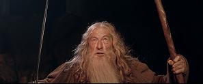 Gandalf frente al Balrog