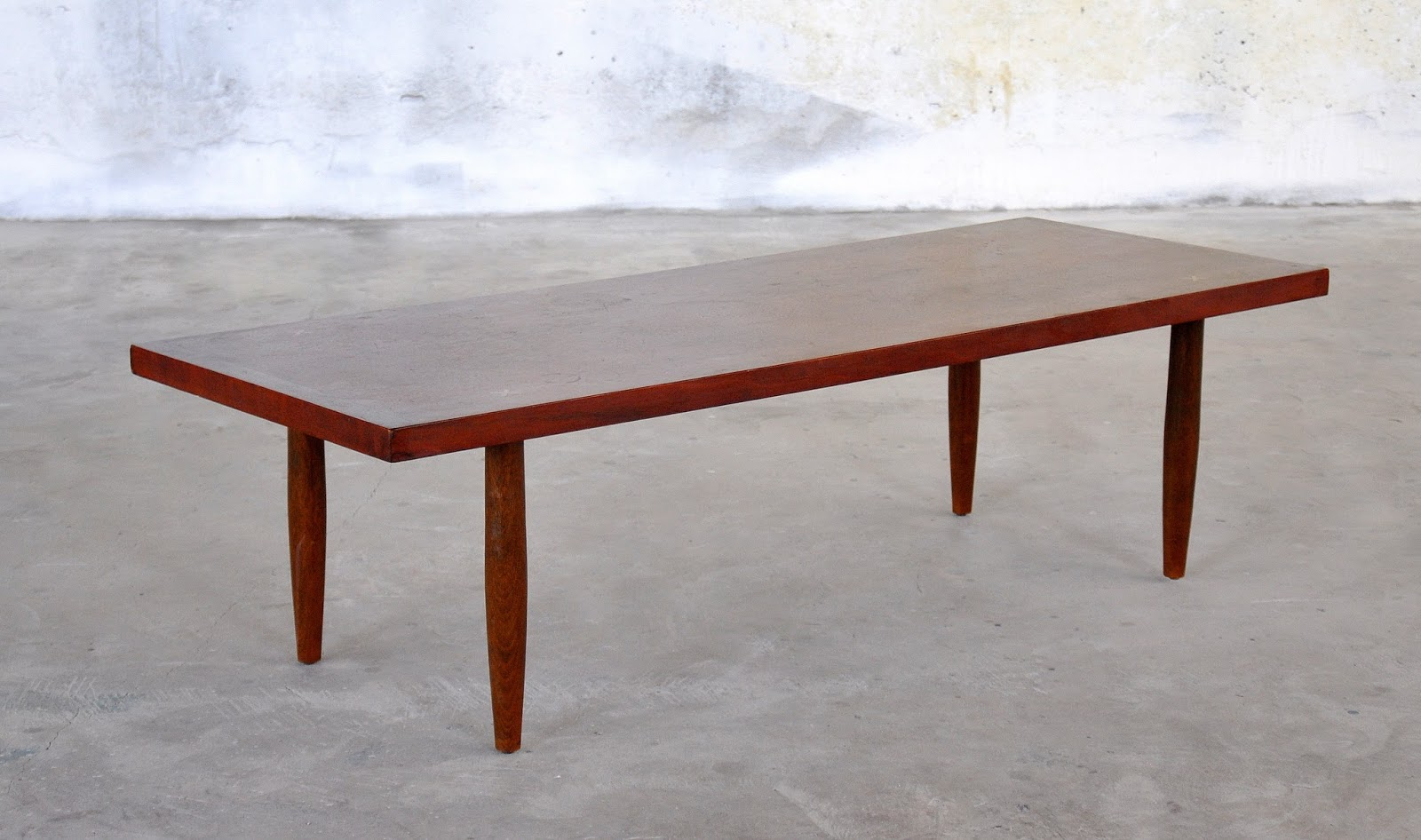 Select modern mid century modern walnut coffee table or bench for Mid century modern coffee table