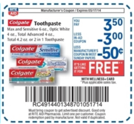 Colgate toothpaste printable coupons