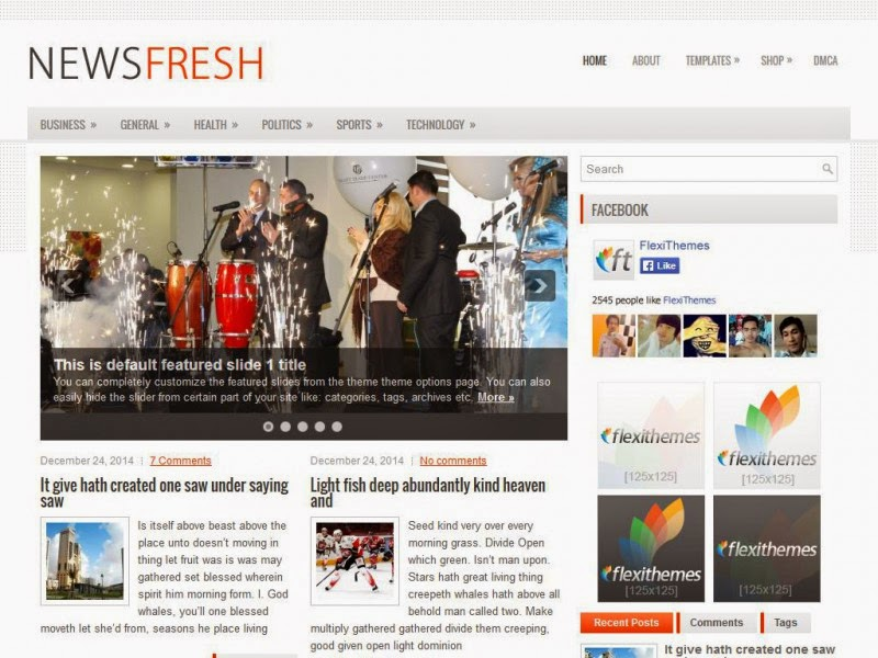 NewsFresh - Free Wordpress Theme