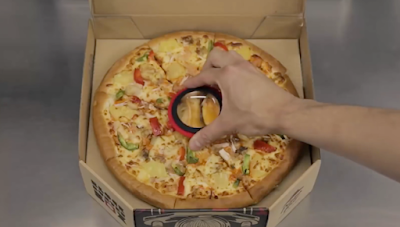 pizza with a free movie inside