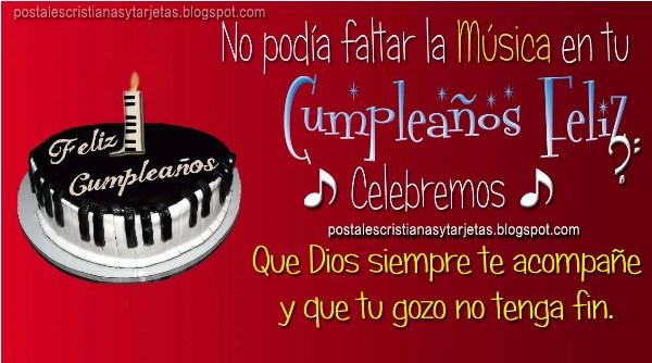 Celebremos con Música tu Cumpleaños Feliz | Postales