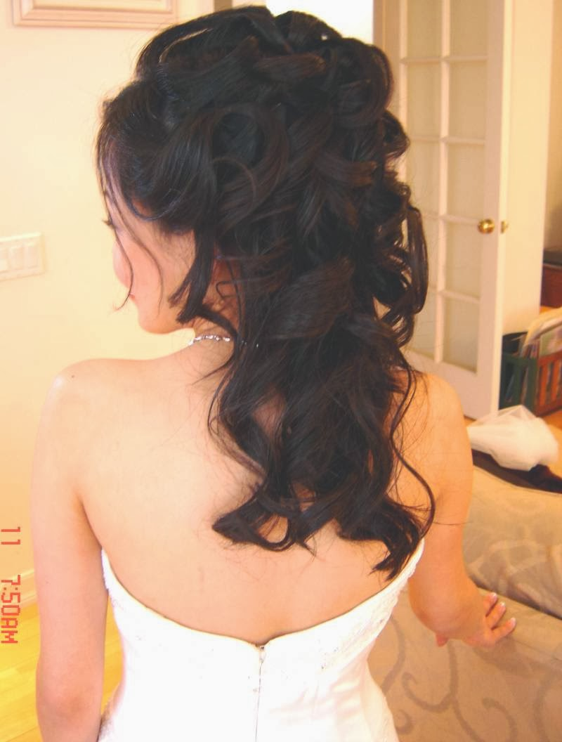 hairstyles for long hair wedding bridesmaid
