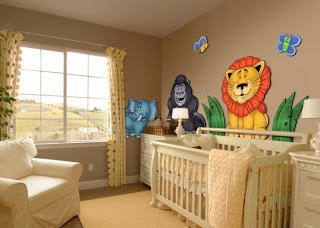 Blog estilo d cor adesivar o quarto do seu pequeno sai - Babyzimmer jungle ...