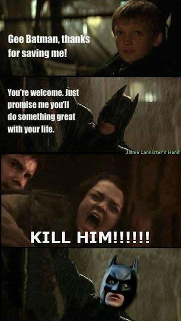 Batman Joffrey Arya - Juego de Tronos en los siete reinos