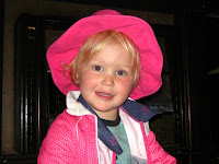 boy in pink hat