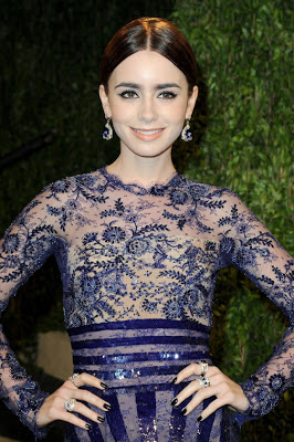 Lily Collins Oscar 2013 Vanity Fair Party Dresses