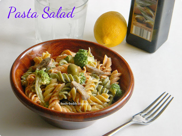 Pasta Salad with low fat 1000 Island Dressing