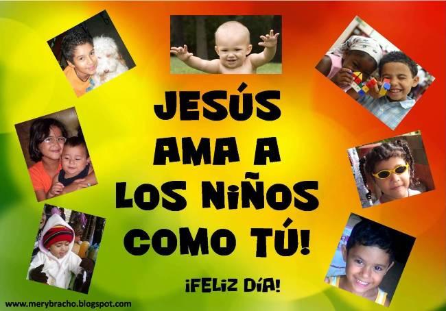 Tarjeta felicitar niño, niña. mensaje cristiano feliz día, feliz cumpleaños, versículo bíblico para niños, Jesus te ama niño, niña. Feliz día del niño