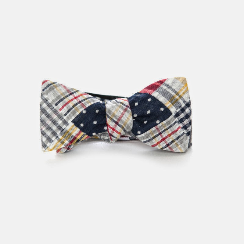 Southern Proper Patchwork Plaid Bow Tie